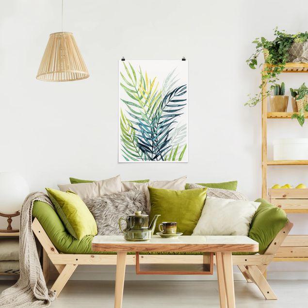 Poster - Tropisches Blattwerk - Palme - Hochformat 3:2