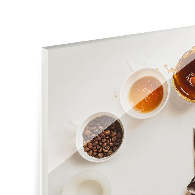 Glas Spritzschutz - Coffee Time - Quadrat - 1:1