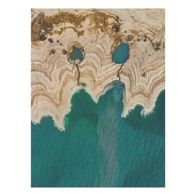Holzbild - Lagune in Israel - Hochformat 4:3
