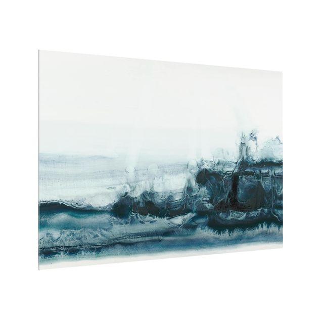 Glas Spritzschutz - Meeresströmung I - Querformat - 4:3