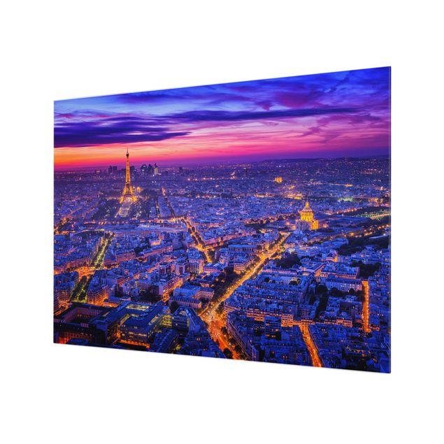Glas Spritzschutz - Paris bei Nacht - Querformat - 4:3