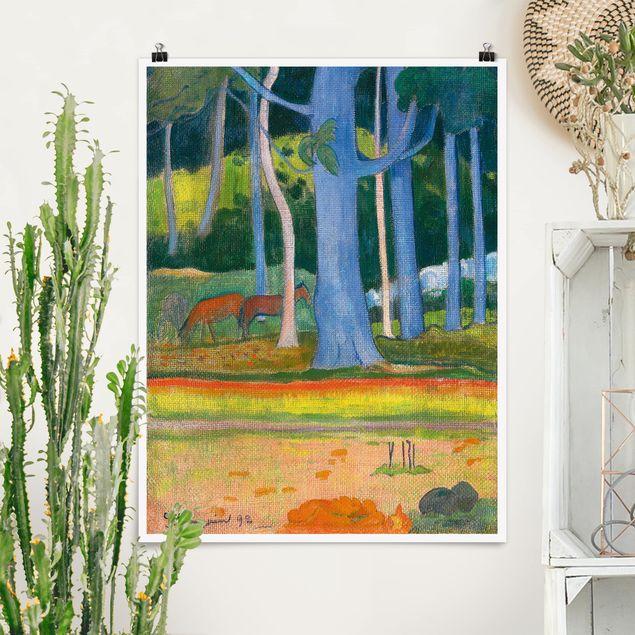 Poster - Paul Gauguin - Waldlandschaft - Hochformat 3:4