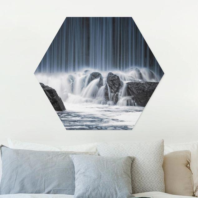 Hexagon Bild Forex - Wasserfall in Finnland