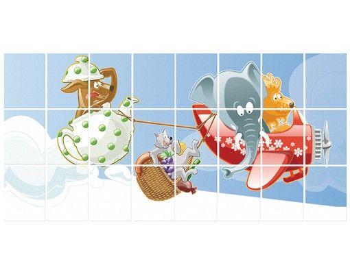 Fliesenbild - Picknick der Tiere