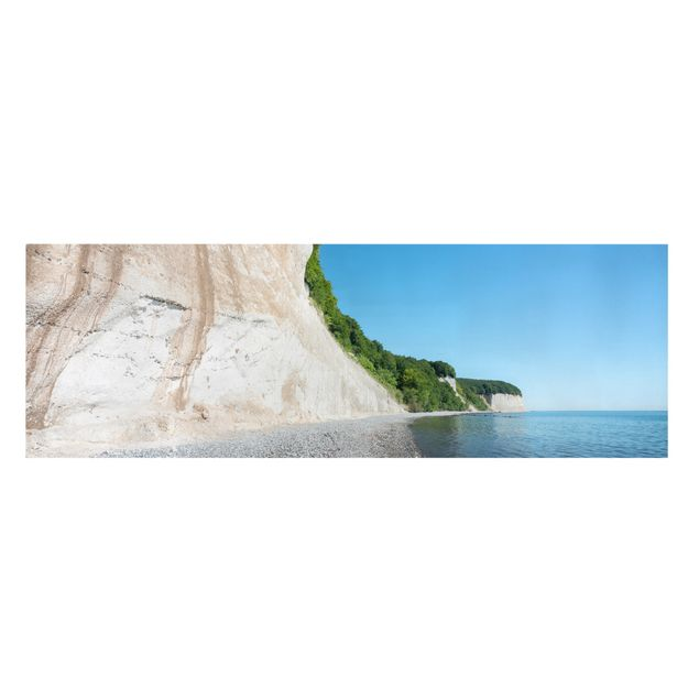 Leinwandbild - Kreidefelsen auf Rügen - Panorama 3:1
