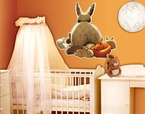 Wandtattoo Babyzimmer Einhörnchen versteckt sich