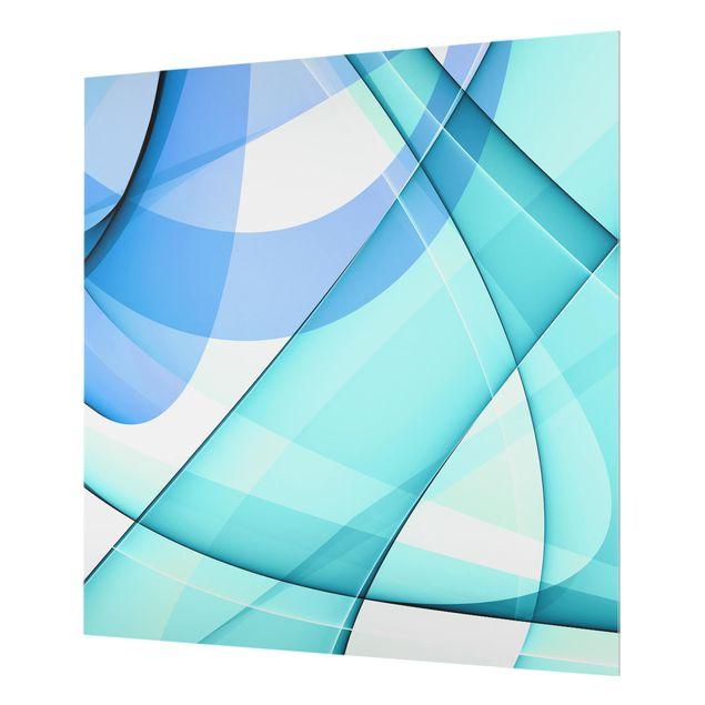 Glas Spritzschutz - Highway to the Sky - Quadrat - 1:1