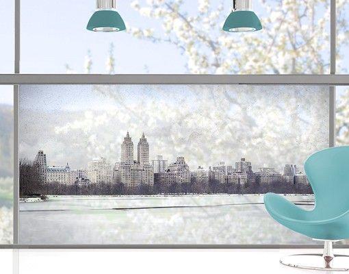 Fensterfolie - Sichtschutz Fenster No.YK2 New York im Schnee - Fensterbilder