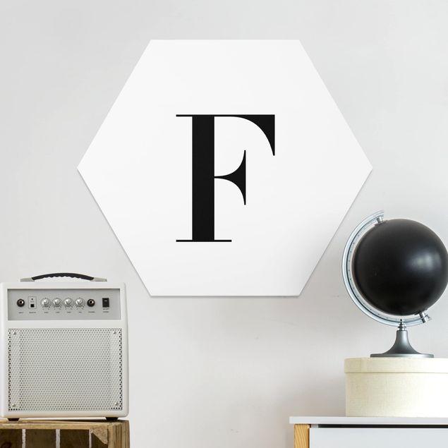 Hexagon Bild Forex - Buchstabe Serif Weiß F