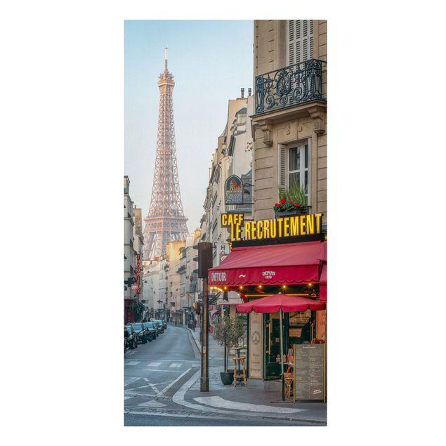 Leinwandbild - Straße von Paris - Hochformat 1:2
