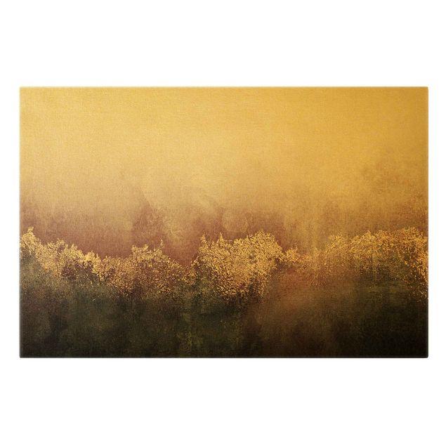 Leinwandbild Gold - Goldene Dämmerung Rosa - Querformat 3:2