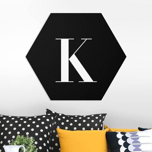 Hexagon Bild Forex - Buchstabe Serif Schwarz K
