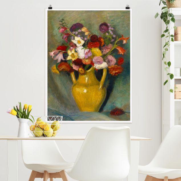 Poster - Otto Modersohn - Bunter Blumenstrauß - Hochformat 3:4