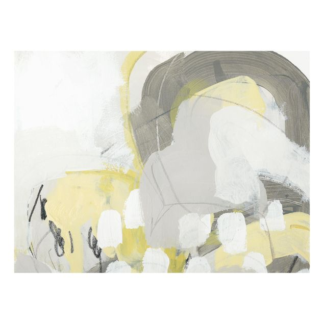 Glas Spritzschutz - Zitronen im Nebel II - Querformat - 4:3