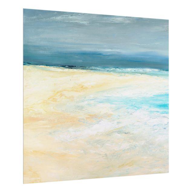 Glas Spritzschutz - Sturm auf dem Meer I - Quadrat - 1:1