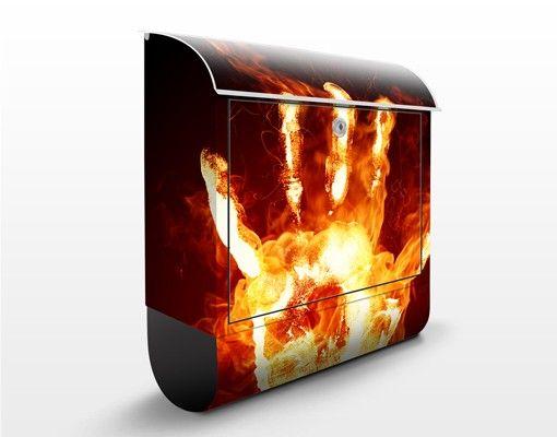 Wandbriefkasten - Flammende Identität - Briefkasten Rot