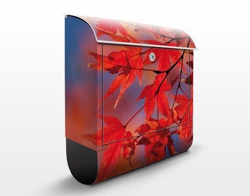 Wandbriefkasten - Red Maple - Briefkasten Rot