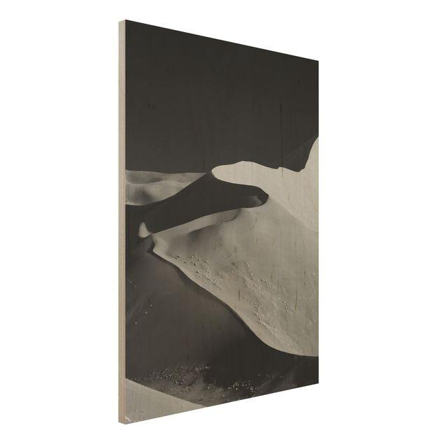 Holzbild - Wüste - Abstrakte Dünen - Hochformat 4:3