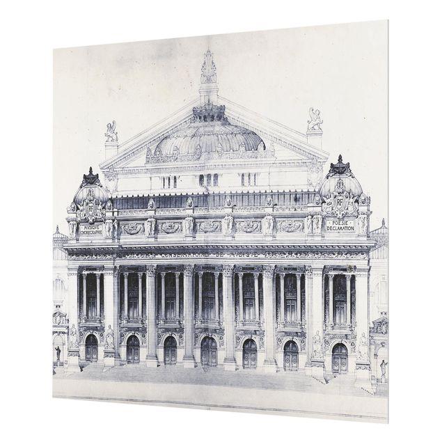 Glas Spritzschutz - Pri: de Rome Skizze II - Quadrat - 1:1