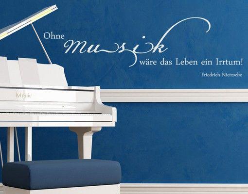 Wandtattoo Zitate - Wandzitate No.CA33 Ohne Musik