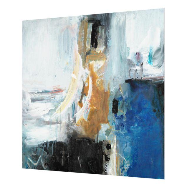 Glas Spritzschutz - Wechselspiel Abstrakt I - Quadrat - 1:1
