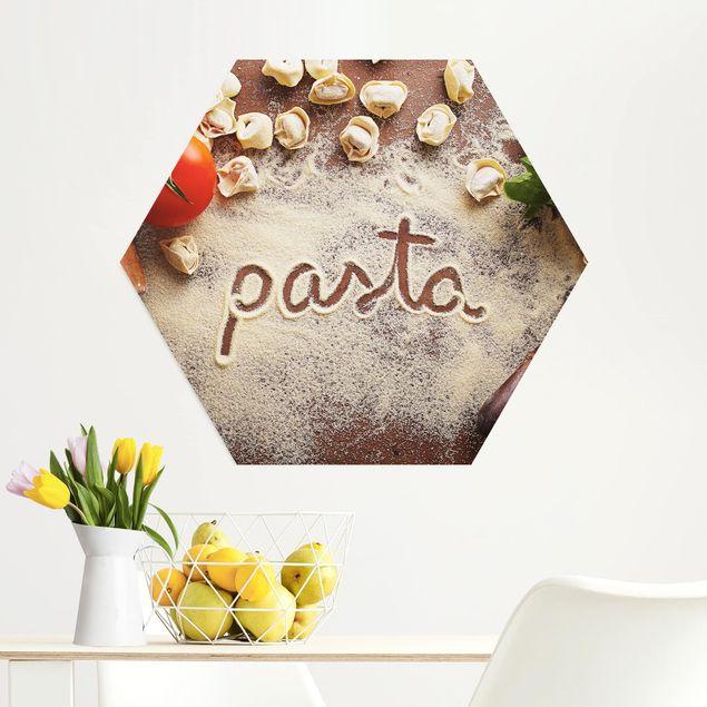 Hexagon Bild Alu-Dibond - Pasta Italiana