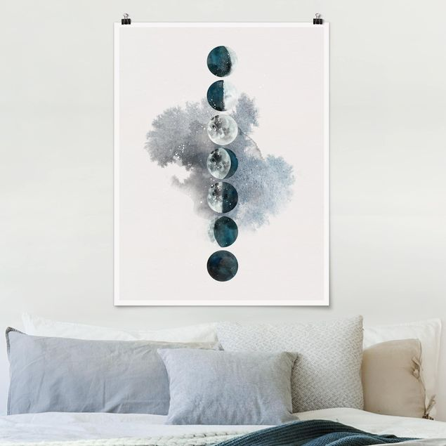 Poster - Die Mondphasen - Hochformat 3:4