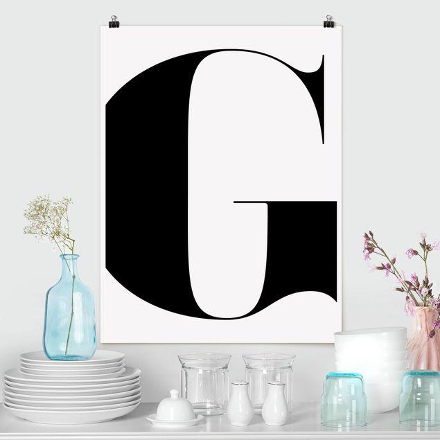 Poster - Antiqua Letter G - Hochformat 3:4