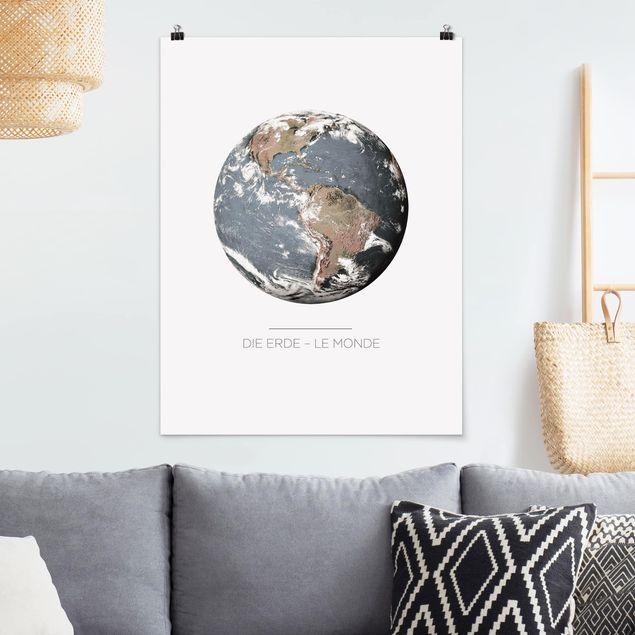 Poster - Le Monde - Die Erde - Hochformat 3:4