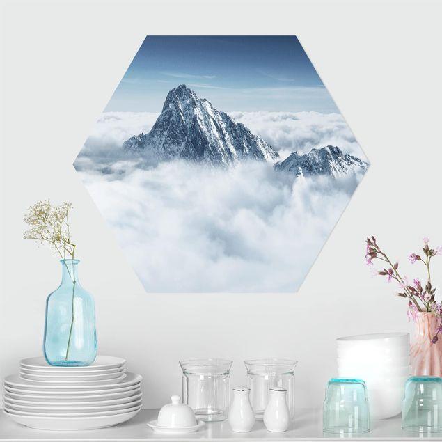 Hexagon Bild Forex - Die Alpen über den Wolken