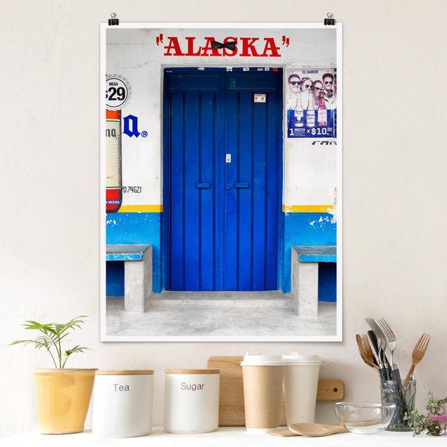 Poster - ALASKA Blue Bar - Hochformat 3:4