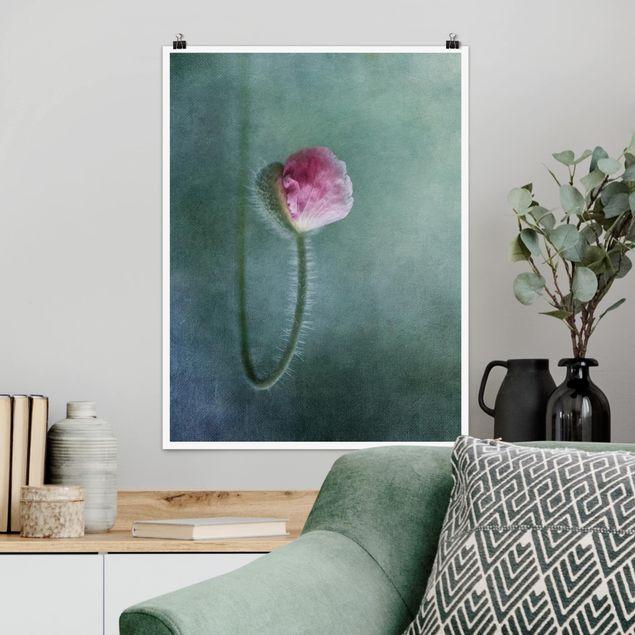 Poster - Blüte in Rosa - Hochformat 3:4