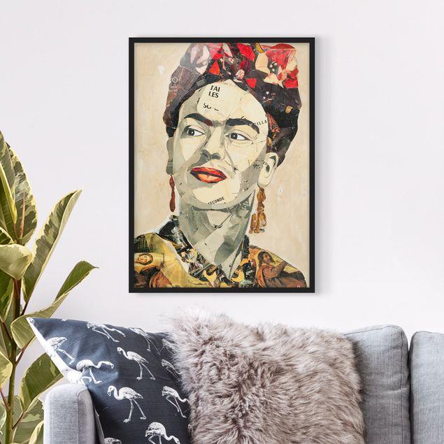 Bild mit Rahmen - Frida Kahlo - Collage No.2 - Hochformat 3:4