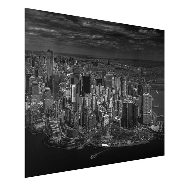Forex Fine Art Print - New York - Manhattan aus der Luft - Querformat 3:4