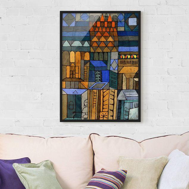 Bild mit Rahmen - Paul Klee - Beginnende Kühle - Hochformat 3:4
