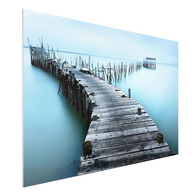 Forex Fine Art Print - Der Hafen von Carrasqueira - Querformat 2:3