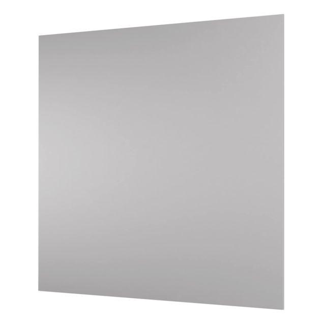Glas Spritzschutz - Achatgrau - Quadrat - 1:1
