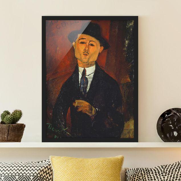 Bild mit Rahmen - Amedeo Modigliani - Bildnis Paul Guillaume - Hochformat 3:4
