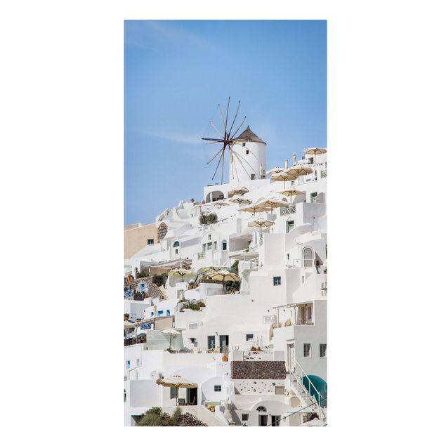 Leinwandbild - Weißes Griechenland - Hochformat 1:2