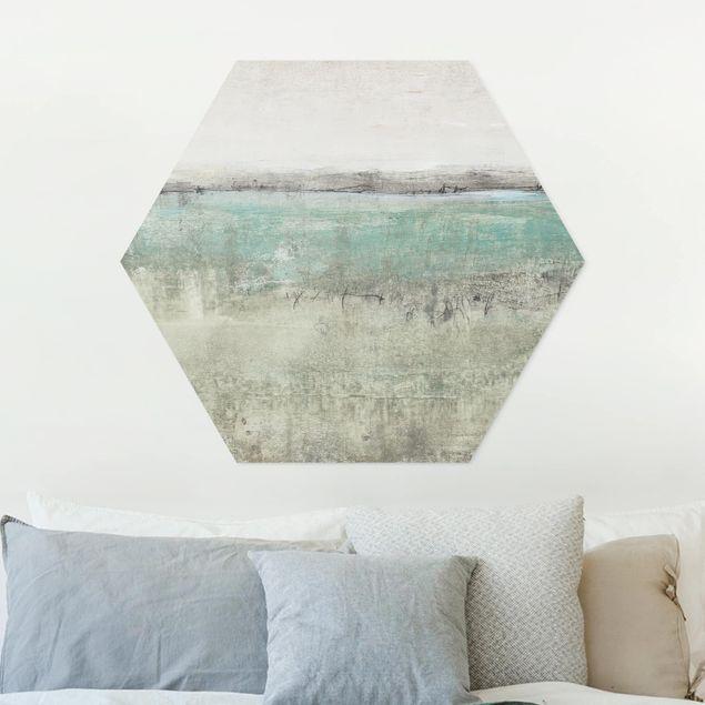 Hexagon Bild Forex - Horizont über Türkis I