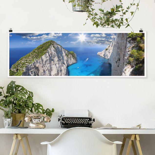 Poster - Meeresbucht - Panorama Querformat