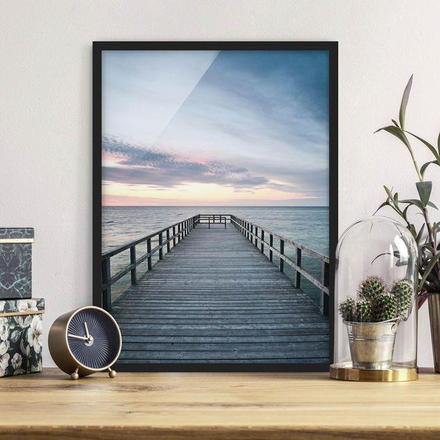 Bild mit Rahmen - Steg Promenade - Hochformat 3:4