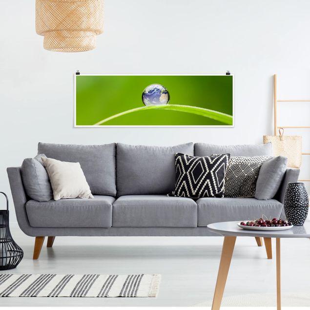 Poster - Grüne Hoffnung - Panorama Querformat