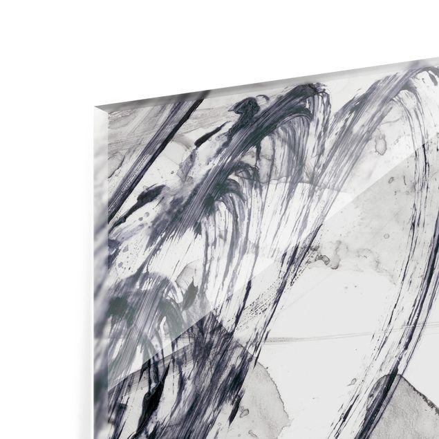 Glas Spritzschutz - Sonar Schwarz Weiß I - Querformat - 4:3