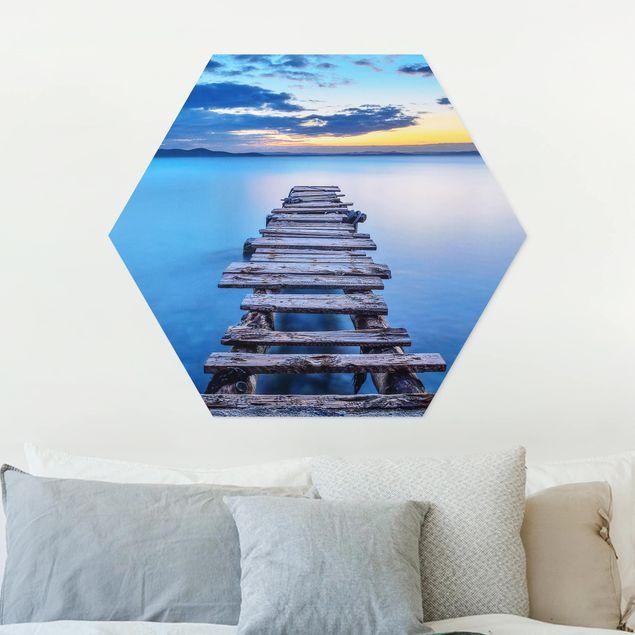 Hexagon Bild Forex - Steg ins ruhige Meer
