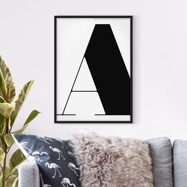 Bild mit Rahmen - Antiqua Letter A - Hochformat 3:4