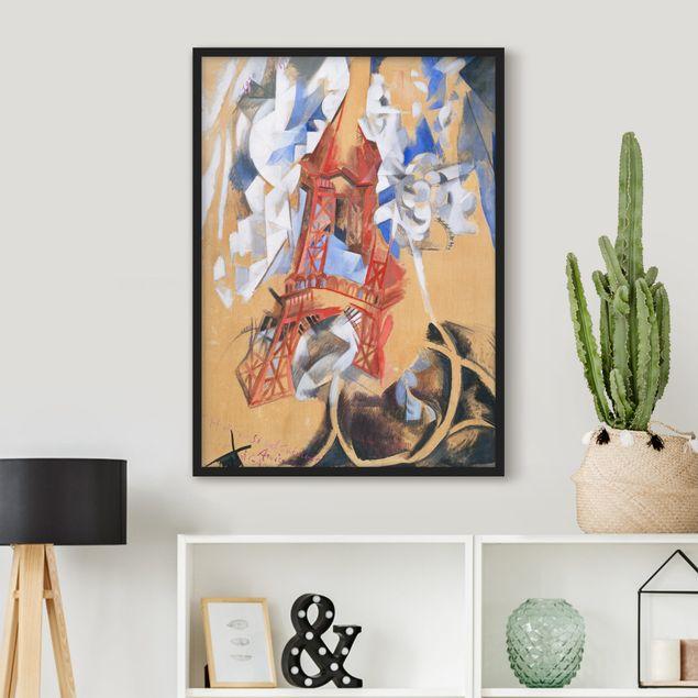 Bild mit Rahmen - Robert Delaunay - Der Eiffelturm - Hochformat 3:4