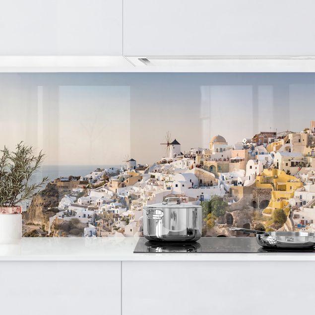 Küchenrückwand - Oia Panorama