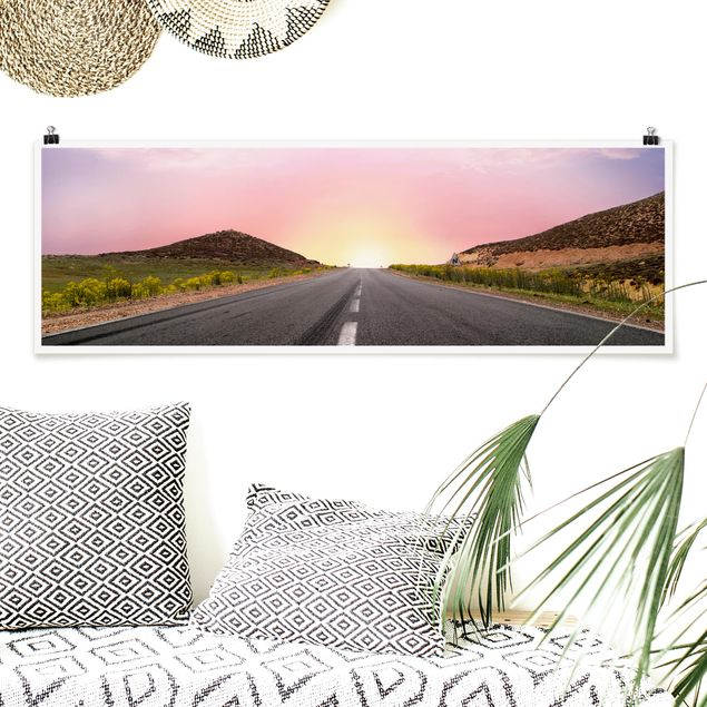 Poster - Road to Horizon - Panorama Querformat