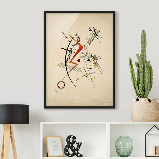 Bild mit Rahmen - Wassily Kandinsky - Jahresgabe - Hochformat 3:4